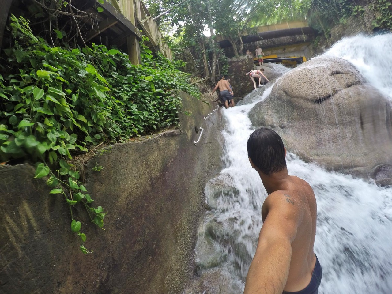 handrails dunns river falls
