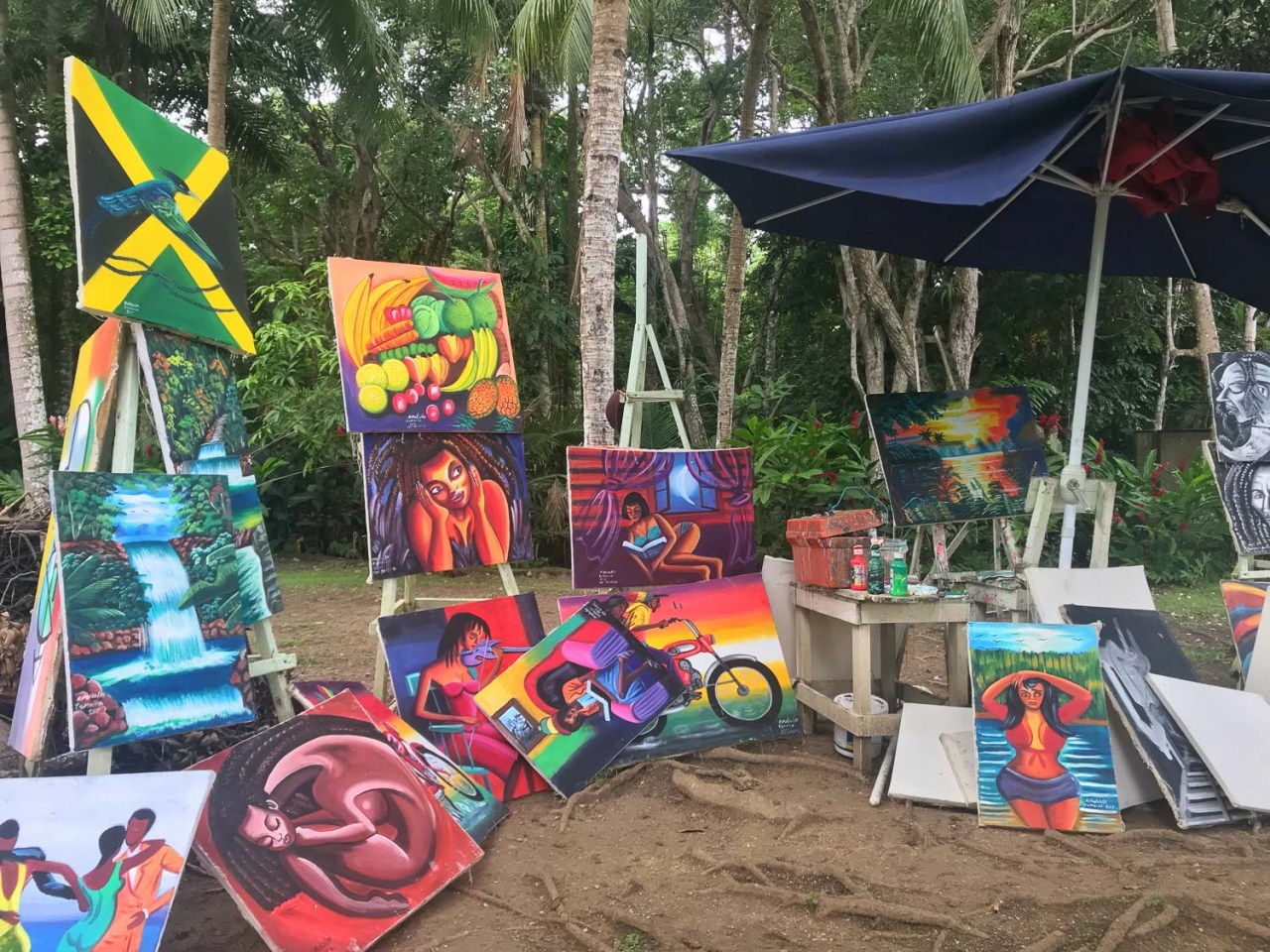 art dunns river falls
