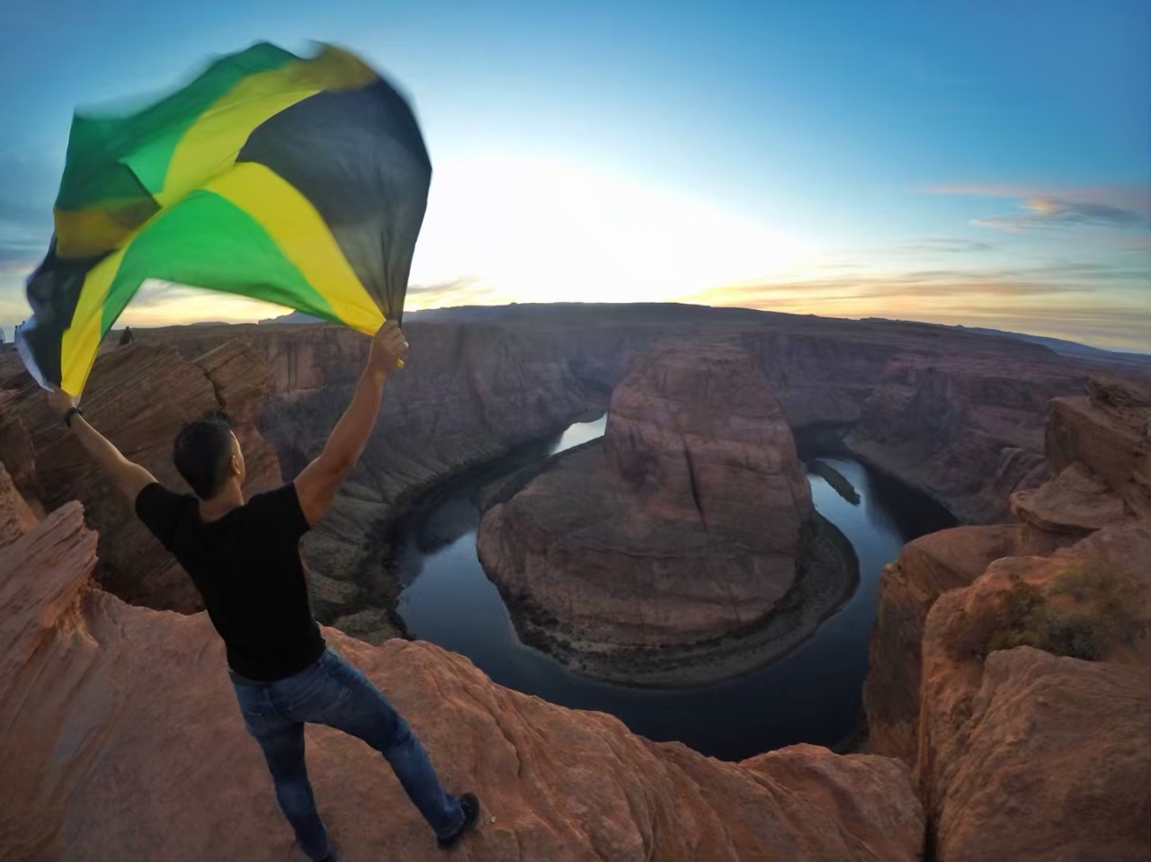 jamaican flag horseshoe bend