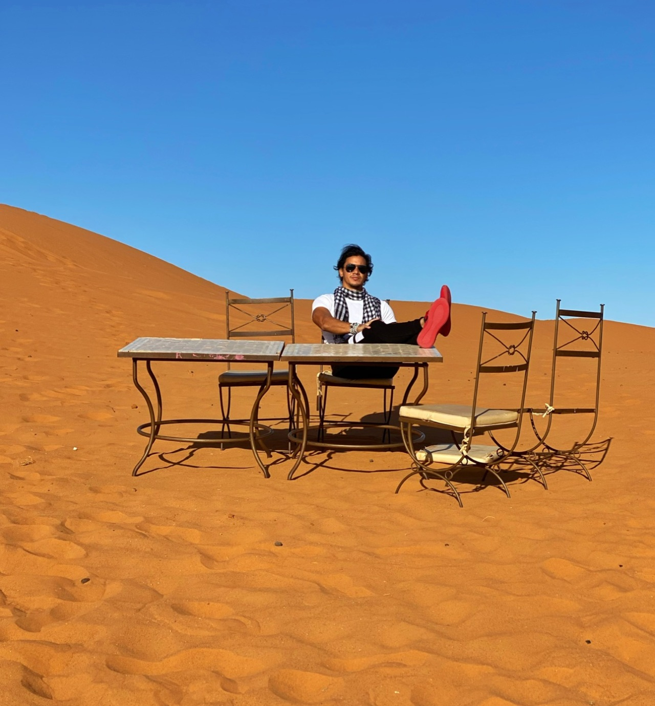 sahara desert pose